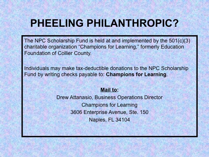 Pheeling Philanthropic for Scoop