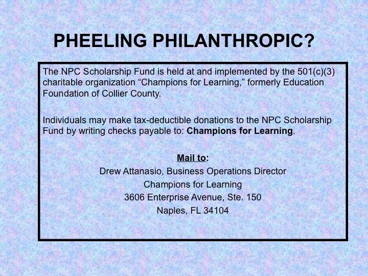 Pheeling Philanthropic for Scoop