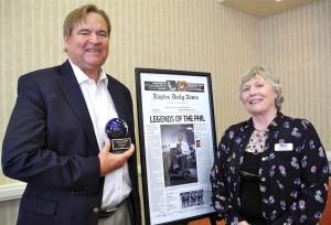 Phil Lewis with NPC President Carole Greene