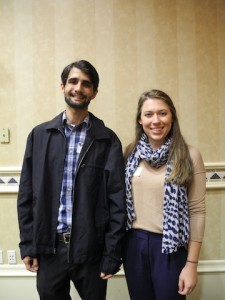 Interns from FGCU Nicholas Idler and Brooke Blythe